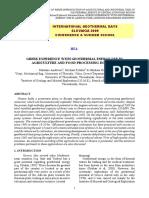 Uso de La Energia Geotermica en La Agricultura y La Industria de Alimentos