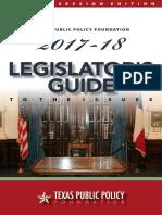 2017 Special Session Legislator's Guide