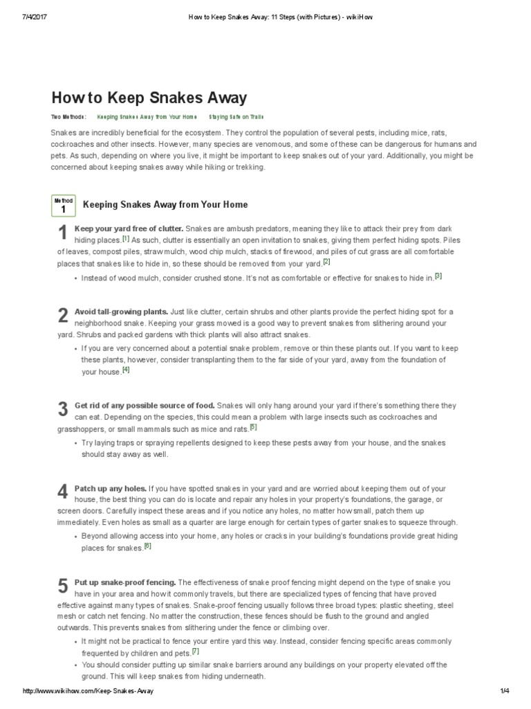 1afe9119af4d How to Keep Snakes Away  11 Steps (with Pictures) - wikiHow.pdf ...