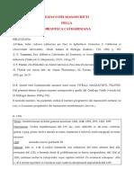 I Manoscritti Liturgico-musicali Della Biblioteca Cateriniana
