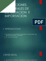 Operaciones Temporales de Exportacion e Importacion