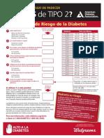 Cuestionario de Riesgo de La Diabetes