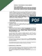 TÉRMINOS DE REFERENCIA Y REQUERIMIENTOS TÉCNICOS MÍNIMOS.RODOLFO DISSELdocx.docx