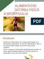 Curs I - Rolul Alimentației În Pregătirea Fizică a Sportivului - Proteine Si Glucide