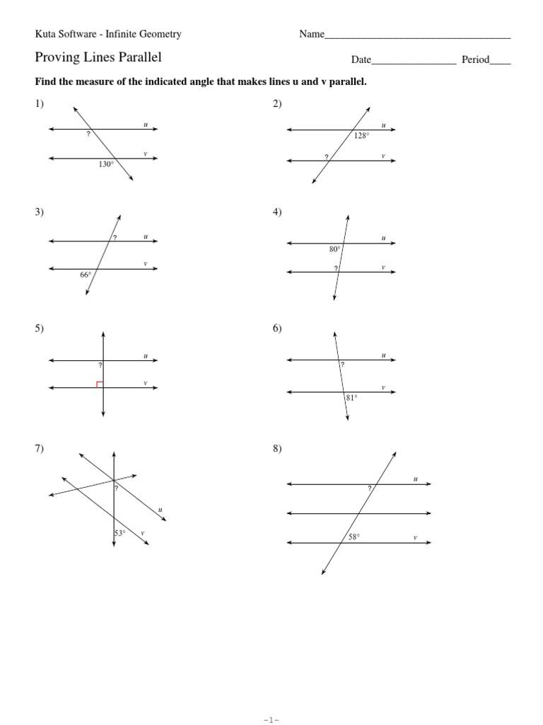 Proving Lines Parallel Worksheet wiildcreative – Proving Lines Parallel Worksheet