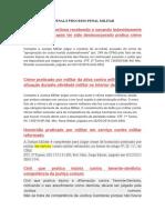 Jurisprudência Penal e Processo Penal Militar