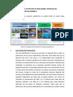 Ejemplo de Un Proyecto Realizando Técnicas de Perforación Geotérmica