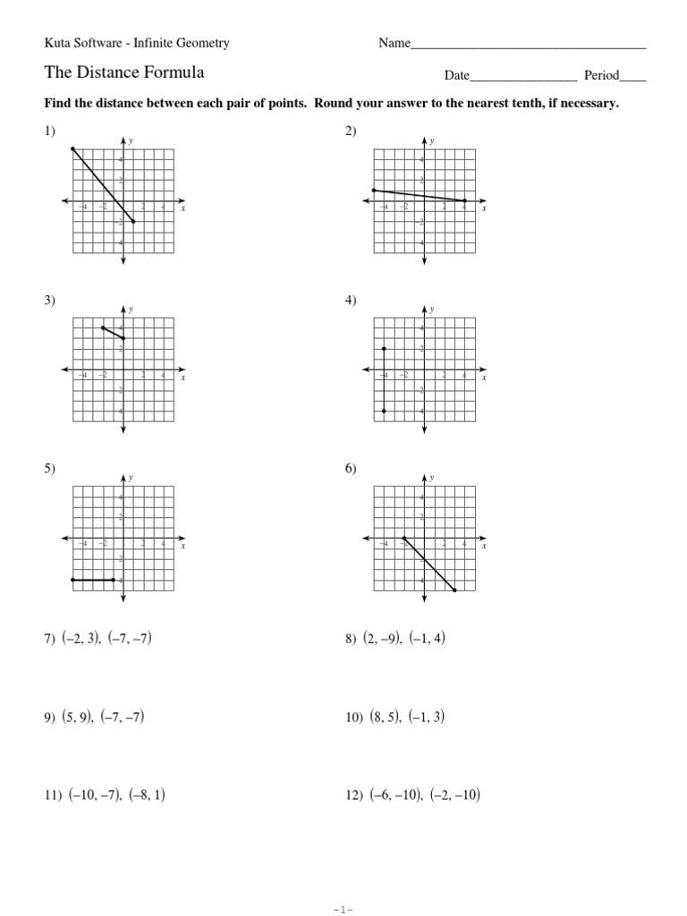 Worksheets. Distance Formula Worksheet. waytoohuman Free Worksheets ...