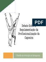 Debate Sobre a Regulamentação Da Profissionalização Da Capoeira