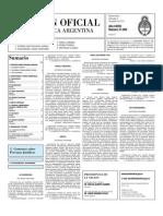 Boletín Oficial de la República Argentina 2010-08-04 - Segunda Sección