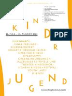 Salzburger Festspiele 2014 - Programm für Kinder