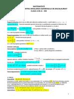 Recapitulare Simulare Bac Xii Matematica m2