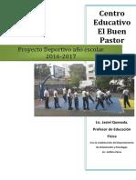 Proyecto Deportivo Año Escolar 2016-2017