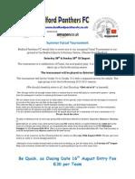 Summer 2010 Futsal Tournament Application Form