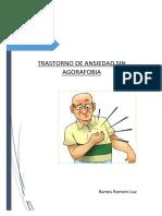 Trastorno de Ansiedad Sin Agorafobia