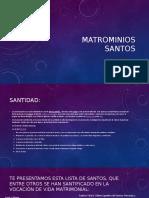 Matrimonios Santos