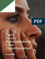 Informe de Unicef sobre Adolescencia