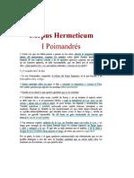 Trimegistro Hermes I POIMADRES Corpus Hermeticum