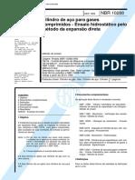 NBR 10288 - Cilindro de aco para gases comprimidos - Ensaio hidrostatico pelo metodo da expansao direta.pdf