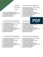 Cele 10 Reguli de Fier