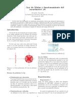 Polarización - Ley de Malus y Funcionamiento Del Sacarímetro