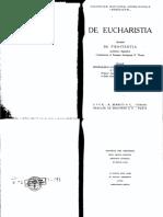 De Eucharistia Et Poenitentia - Garrigou-Lagrange, Reginald, O.P