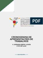 Programac a o Trabalhos CIIP2016