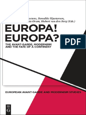Sascha Bru Europa Europa The Avant Garde Modernism And