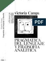 Camps, Victoria - Pragmática Del Lenguaje y Filosofía Analítica