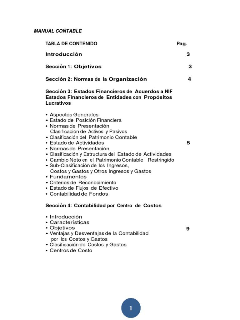 Manual Contable 1 Estado Financiero Contabilidad