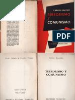 Kautski, Carlos - Terrorismo y Comunismo, Ed. Transición, Bs. as., 1956