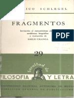 29 F Schlegel Fragmentos 1958