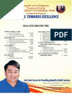 Local Civil Registry Fees