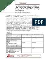 Salario Audioprotesista MAdrid_Comercio de Optica - Revision Salarial 2011- BOCM 19-03-2012