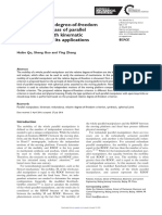 On Line-2016 a Novel Relative Degree-Of-freedom Criterion for a Class of Parallel Manipulators With Kinematic Redundancy and Its Applications
