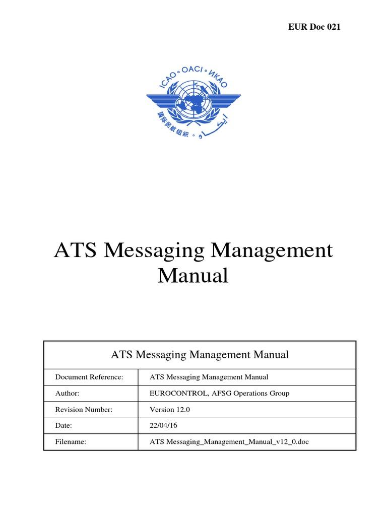 EUR Doc 021 - ATS Messaging Management Manual_v12_0   Comma Separated  Values   Osi Model