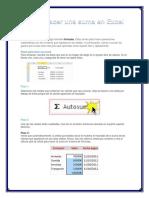 Cómo Hacer Una Suma en Excel 2010