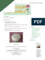 Cocinando Vegan Con Sol Marianela_ Muzzarella de Avena