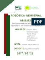 ROBOTICA INDUSTRIAL - INFORME DE LABORATORIO