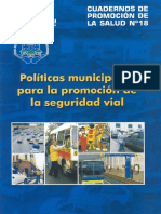 DTA PS Politicas Municipales Para Seguridad Vial