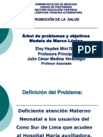 DTA 2017 PS Arbol Problema Objetivos y ML Elsy Mini Julio Medina