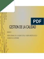 1.1 - Visión General de La Calidad Total