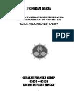 Program Kerja Pramuka SDN Pejaten Barat 09 Pagi Tahun 2016-2017