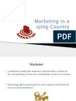Marketing in a Developing Country