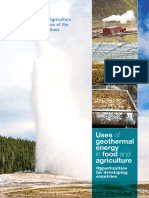 Uses of Geothermal Energy in Food and Agriculture Opportunities for Developing Countries