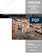 LEY GENERAL DEL PATRIMONIO CULTURAL DE LA NACIÓN  LEY Nº 28296