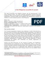 Making Transport in the Philippines Accessible for Persons With Disabilities