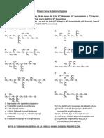Primera Tarea de Quimica Organica (Alcanos) 6TO SEC.