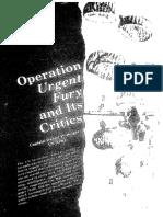 Operación Furia Urgente y Sus Críticos