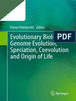 Pierre Pontarotti Eds. Evolutionary Biology Genome Evolution, Speciation, Coevolution and Origin of Life